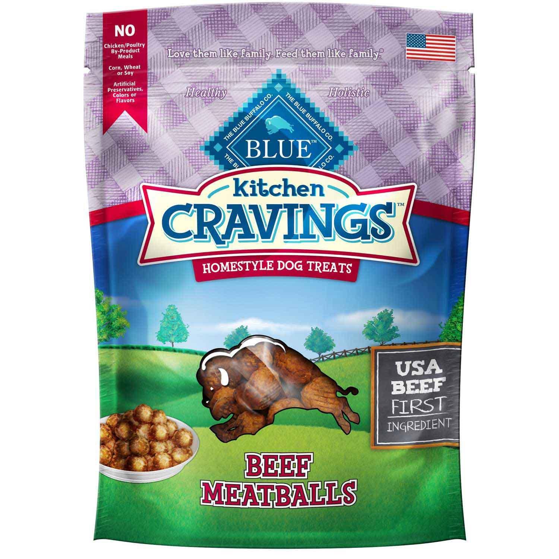 Amazon.com : Blue Buffalo Blue Kitchen Cravings Beef Meatballs Dog ...