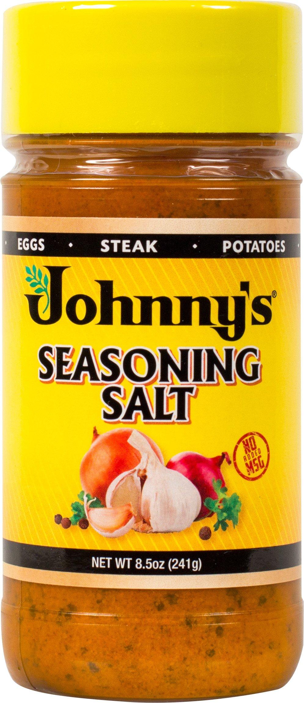 Johnny's Seasoning Salt, 8.5 Ounce (Pack of 6)