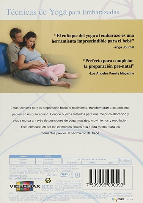 Amazon.com: Tecnicas De Yoga Para Embarazadas DVD Region 1 ...