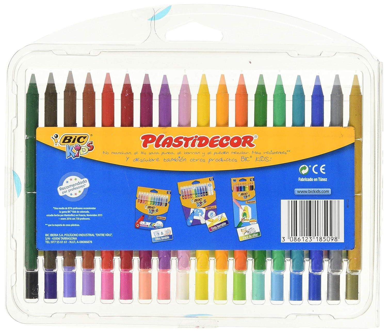 Amazon.com: Bic Plastidecor Surtido de ceras de colores ...