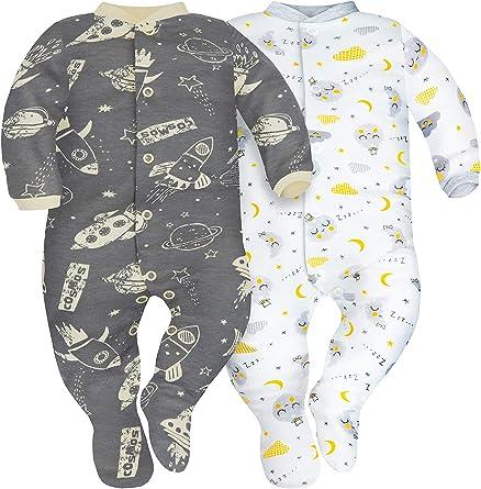 Pack de 3 SIBINULO Ni/ño Ni/ña Pijama Beb/é Pelele de ABS Tama/ños 80-92