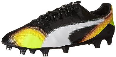 5d4f3e0a14e PUMA Men s Evospeed SL II Graphic FG Soccer Shoe Black White Safety Grey 8.5