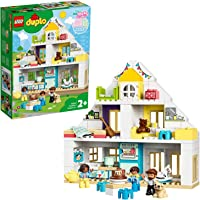 LEGO 10929 DUPLO Town Modular Playhouse 3-in-1 Set, Dolls House for 2+ Year Old Girls and Boys with Figures and Animals…