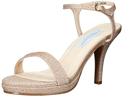 ac955526511 Dyeables Women s Aurora Heeled Sandal Champagne 5 ...