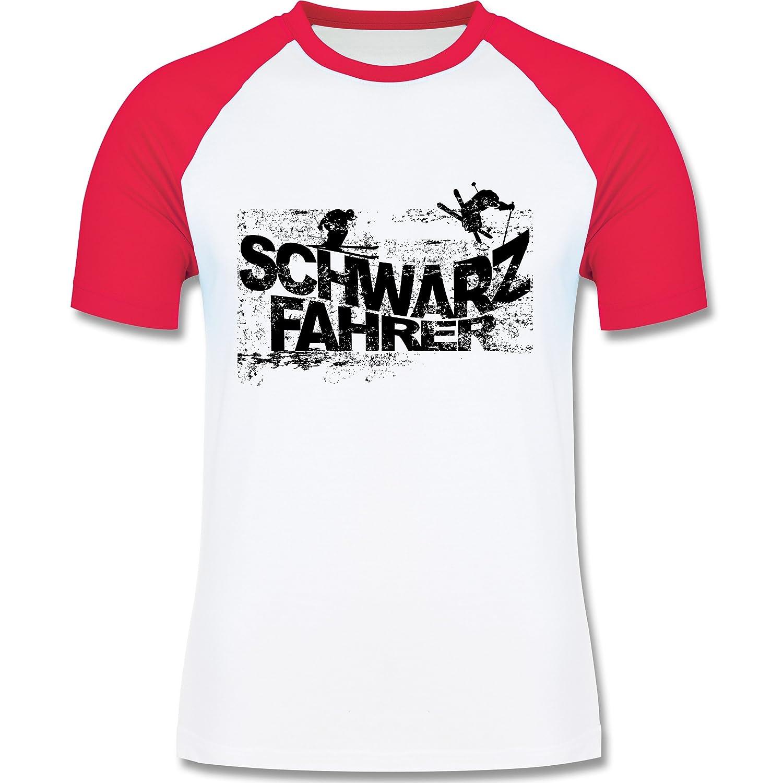Après Ski - Schwarzfahrer Ski - zweifarbiges Longsleeve / Baseballshirt für Männer