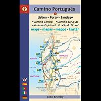 Camino Portugués Maps: Lisbon - Porto - Santiago / Camino Central, Camino de la Costa, Variente Espiritual & Senda Litoral (Camino Guides)