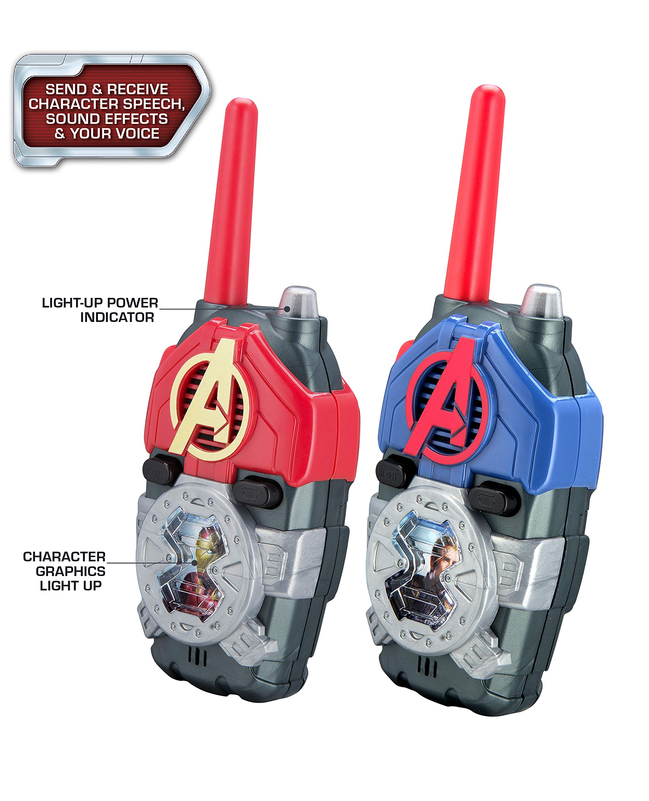 eKids Avengers Endgame FRS Walkie Talkies with Lights & Sounds Kid Friendly Easy to Use by eKids (Image #3)