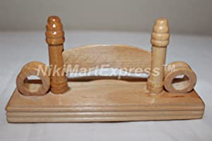 Chinese Bamboo Wood/Silk/Paper/Lace Hand Folding Fan Stand Display Base Holder