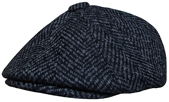 Mens Baker Boy Cap Big Herringbone Design newsboy Hat Gatsby Boy Cap ... a546da77169