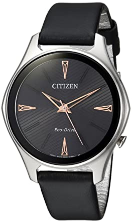 d12cca07bf8b4a Image Unavailable. Image not available for. Color: Citizen Women's 'Eco- Drive' Quartz Stainless Steel and Leather Dress Watch ...