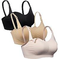 90fcd16e82 iLoveSIA 3PACK Womens Full Bust Nursing Bra Seamless Maternity Bra