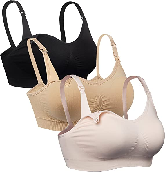 Y back Pregnancy Maternity Bra L Large Soft Support White Cantaloop NEW
