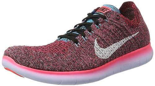 huge discount e039a 2251f Nike Free RN Flyknit, Zapatillas Deportivas para Interior para Hombre, Rojo  (Hot Punch White-Black-GMM Bl), 45.5 EU  Amazon.es  Zapatos y complementos