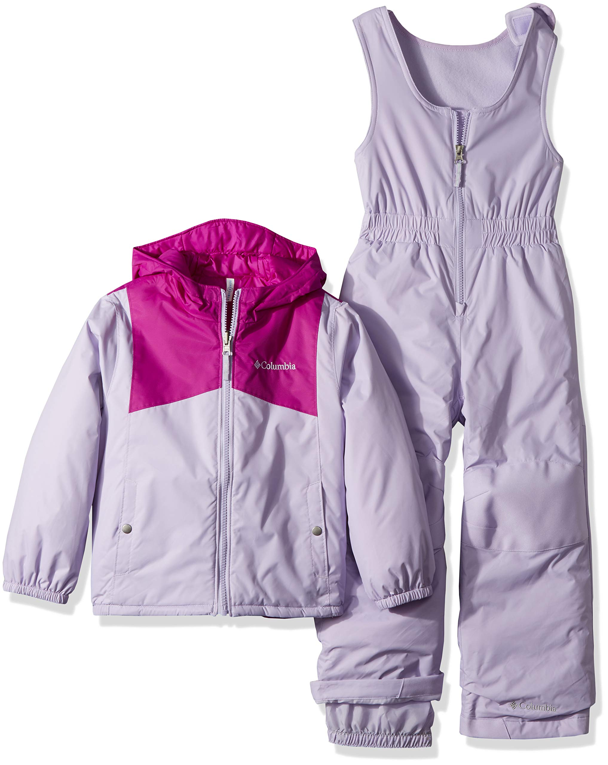 Columbia Kids & Baby Toddler Kids Double Flake Set, Bright Plum/Soft Violet, 2T