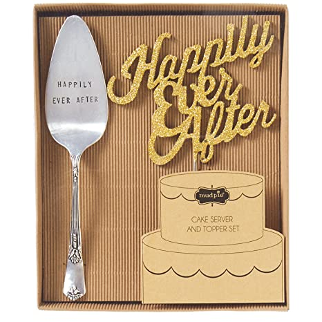Mud Pie Happily Ever After Cake Set, Silver