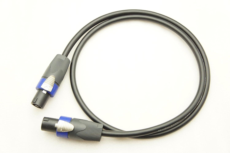 CANARE カナレ 4S8 スピーカーケーブル 4芯結線(スピコン→スピコン) (50m, 灰) B01DGUNVAQ 黒 7m 7m|黒