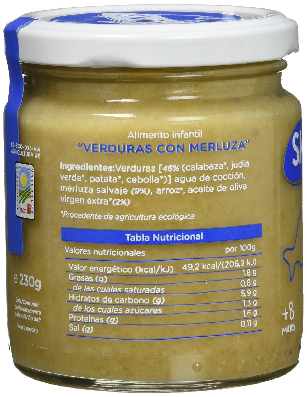 Smileat, Tarrito de pescado para bebé, (Verduras con merluza) - 230 gr.: Amazon.es: Alimentación y bebidas