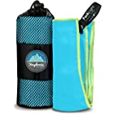 Youphoria Outdoors Microfiber Travel Towel - Ideal Fast Drying Towels for Camping, Travel, Beach, Backpacking, Gym…