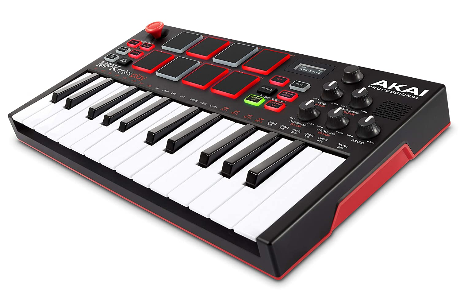 Akai Professional MPK Mini Play   Standalone Mini Keyboard & USB Controller  With Built-In Speaker, MPC-Style Pads, On-board Effects, 128 Instrument- &  10 ...