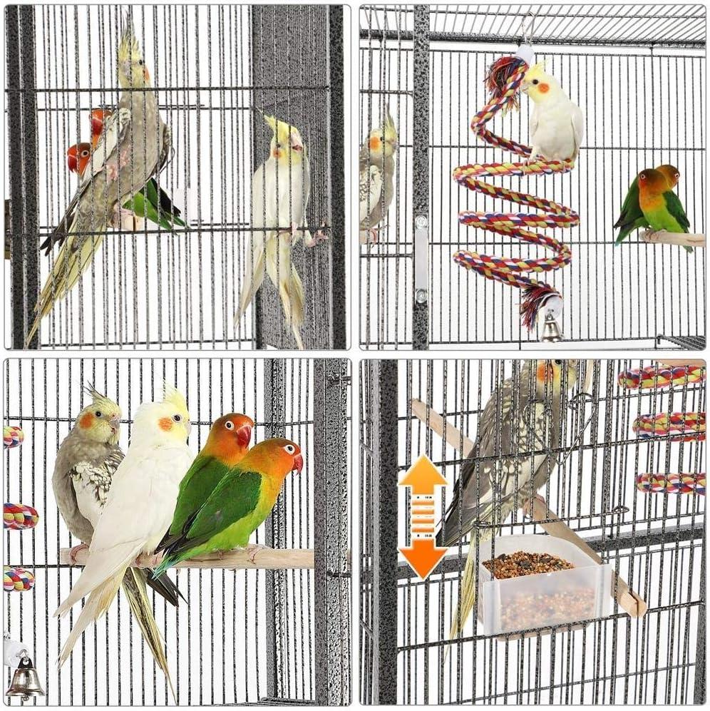Nivias Niveles de Jaula de pájaros Gran Jaula de pájaros Jaula de Loros for periquitos/tortolitos/Conures/periquitos/cacatúas, etc. Pajarera for jaulas de Ratas Chinchilla Degu Jaula con Perch: Amazon.es: Hogar
