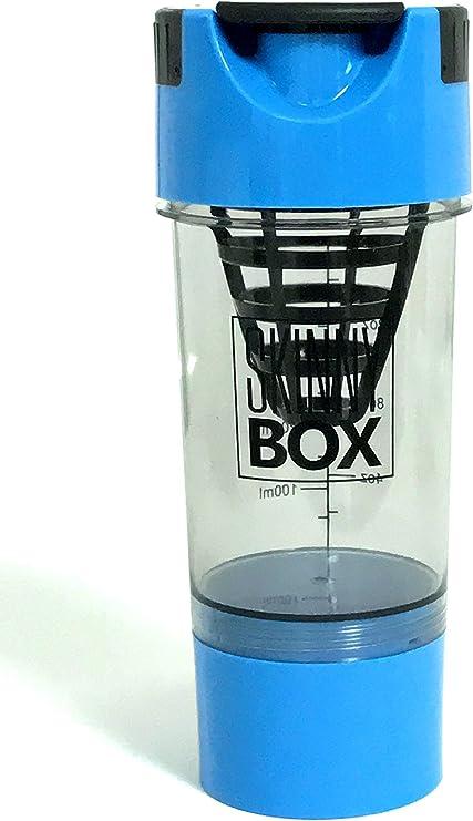 Proteína DRINK Shaker mezclador botella 16oz, 500 ml proteína mezclador batidora de cartucho con Twist & Go Suplementos de polvo de almacenamiento ...