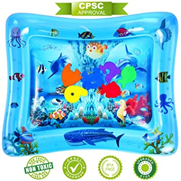 Amazon.com: NASHRIO Tummy Time Water Play Mat, juguetes para ...
