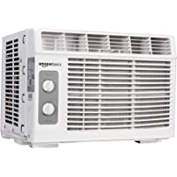 AmazonBasics Window-Mounted Air Conditioner with Mechanical Control - Cools 150 Square Feet, 5000 BTU, AC Unit