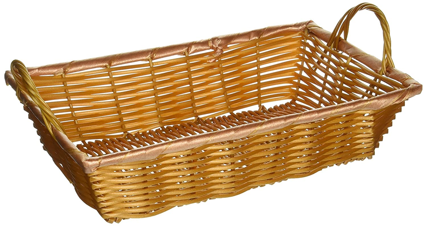 Winco PWBN-12B Rectangular Woven Basket with Handles, 12-Inch by 8-Inch by 3-Inch Winco USA