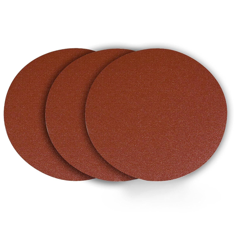 POWERTEC 110610 12-Inch PSA 120 Grit Aluminum Oxide Sanding Disc 10-Pack Self Stick