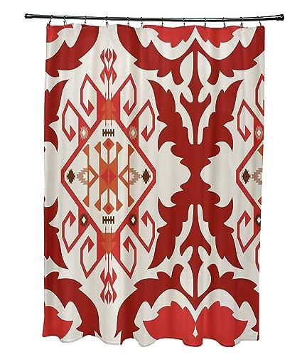 E By Design 71 X 74 Bombay 6 Geometric Print Shower Curtain