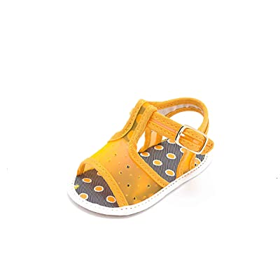 ABA , Chaussures souple pour bébé (garçon) orange Arancione