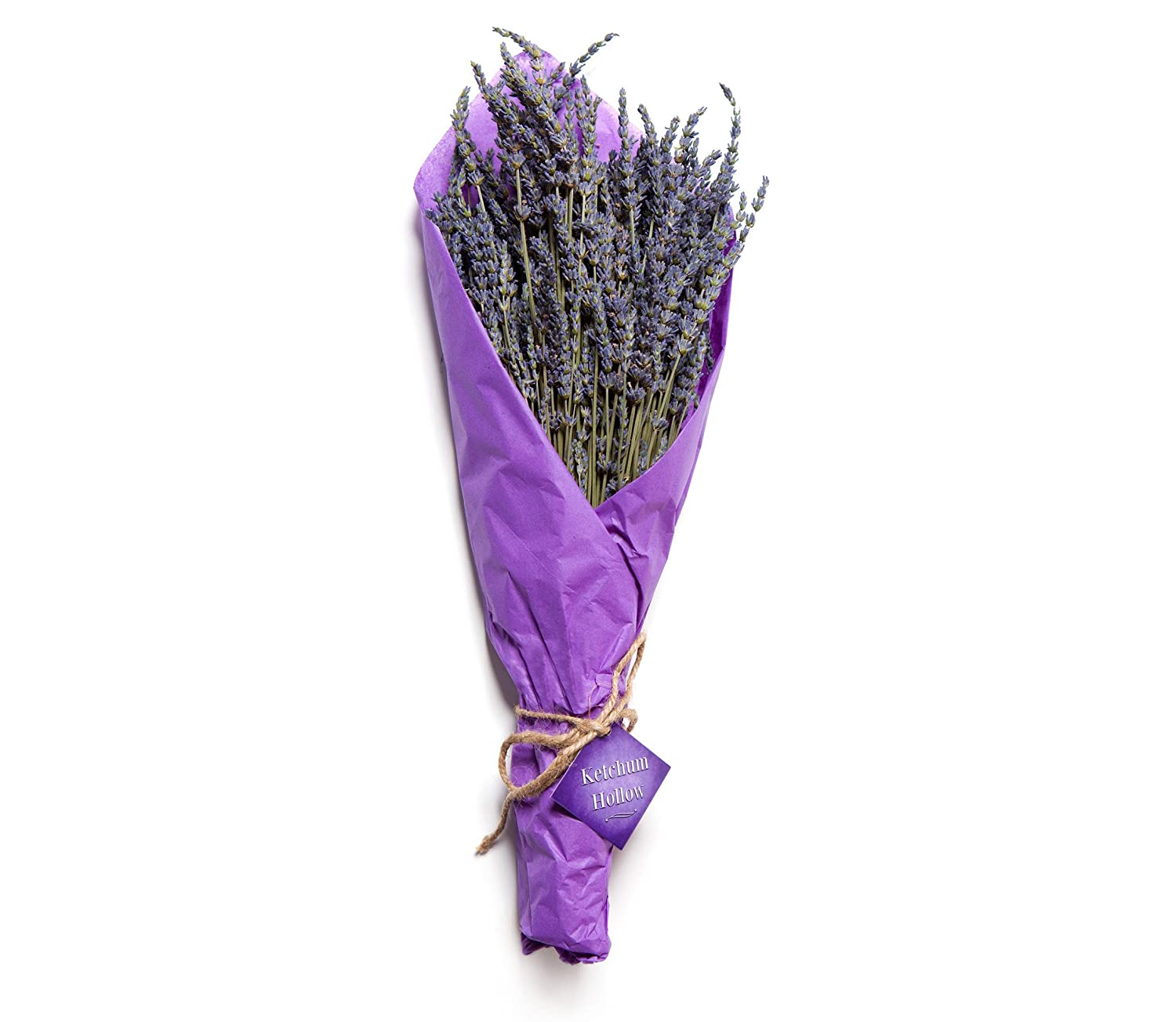 100% Natural Dried Lavender Bouquet from Ketchum Hollow, Grown in Idaho, USA, Bundle is Carefully Packaged for Safe Shipping, Perfect for Weddings, Home Decor, Gifts, and More
