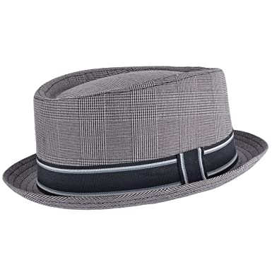 ee2e9ab84ca45 Cherry-on-Top - Sombrero Pork Pie - para Hombre Gris Gris Claro Talla