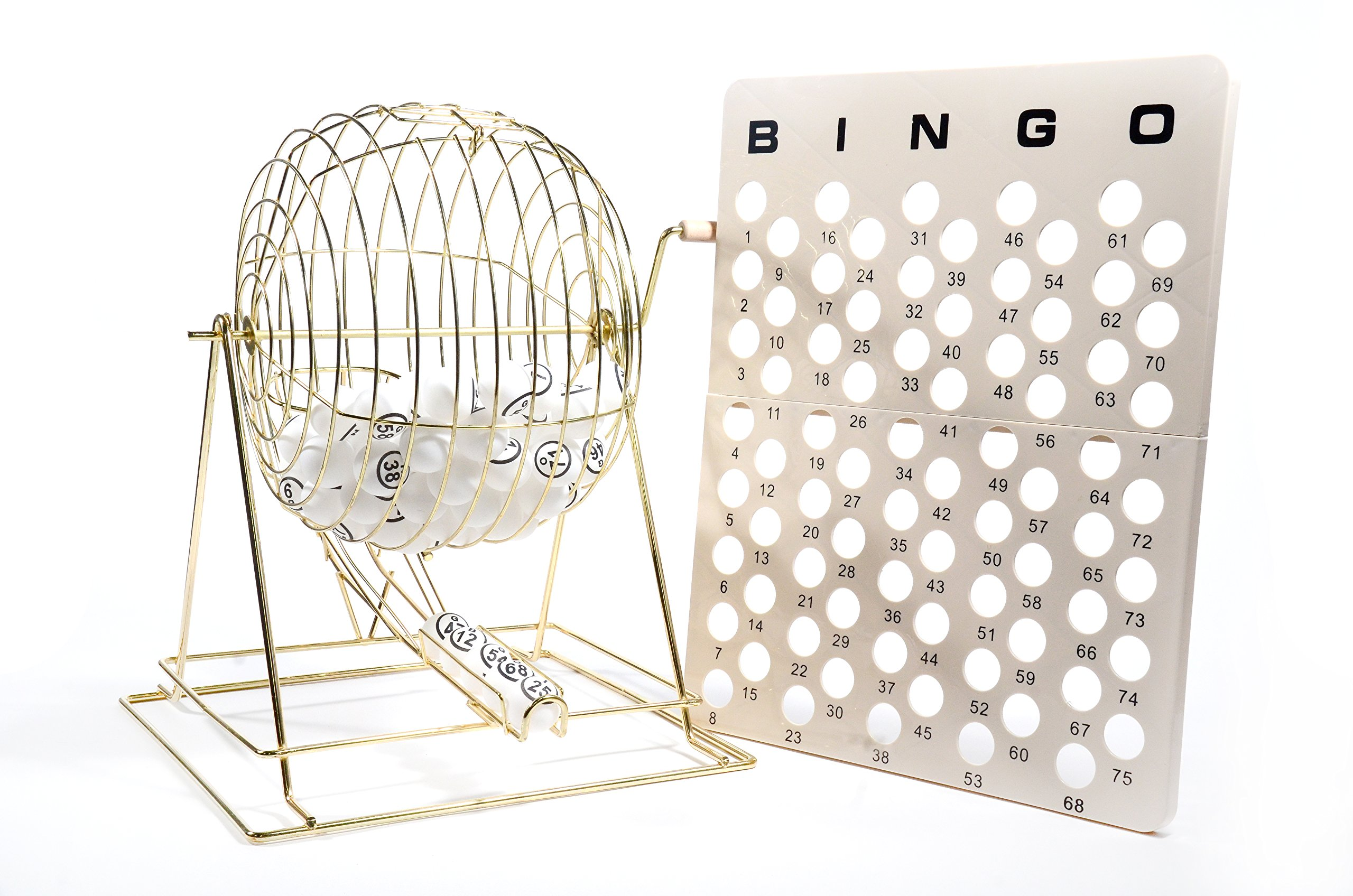 Regal Games Jumbo Professional Brass Ping Pong Ball Bingo Cage by Regal Games