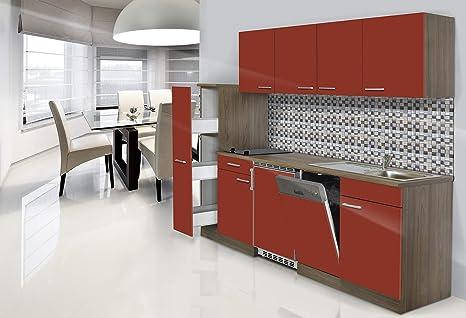 respekta CERAN Single Cocina - Bloque de Cocina (225 cm ...