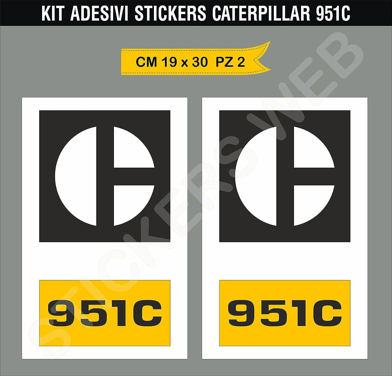 Amazon fr autocollants stickers caterpillar 951 c 951 c mouvement terre escavatore est possible personnaliser les couleurs cod 0367