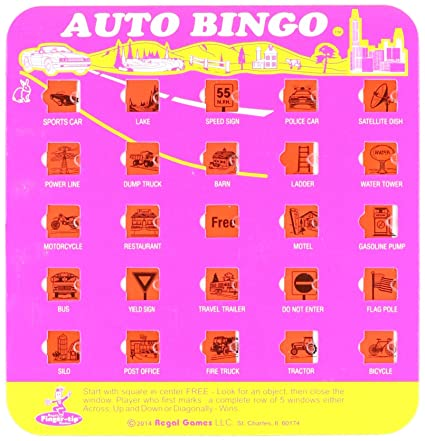 image about Travel Bingo Printable named Regal Online games The Initial Generate Bingo Activity Card