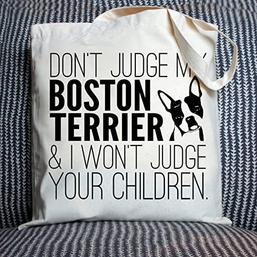 Buy Boston Terrier   Don t Judge My Dog Eco-Friendly Tote Bag by Pet Studio  Art Online at Low Prices in India - Amazon.in 82731a7d76842