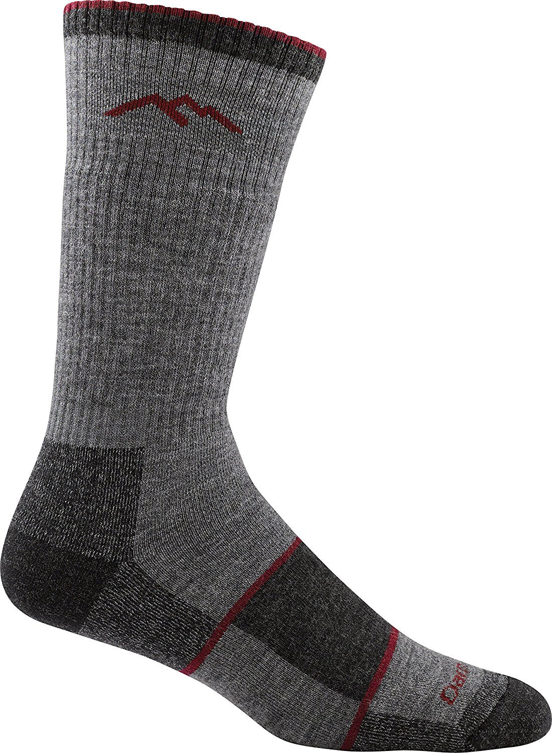 Darn Tough Vermont Men's Merino Wool Boot Sock Full Cushion ( Style 1405 ) - 6 Pack Charcoal, Large