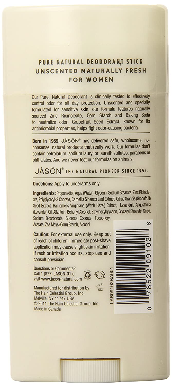 Jason Naturally Fresh Desodorante Stick Para Mujer - 71 gr: Amazon.es: Belleza
