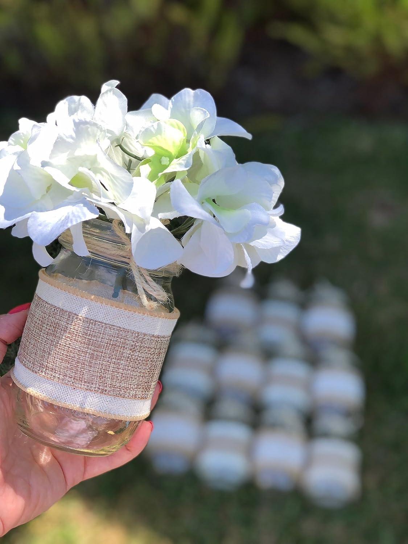 Pleasing Amazon Com Mason Jars Wrapped In Lace Burlap And Twine Interior Design Ideas Oxytryabchikinfo