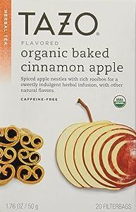 Tazo Organic Cinnamon Apple Rooibos Herbal Tea, 20 filter bag,1.76 OZ/ 50 g