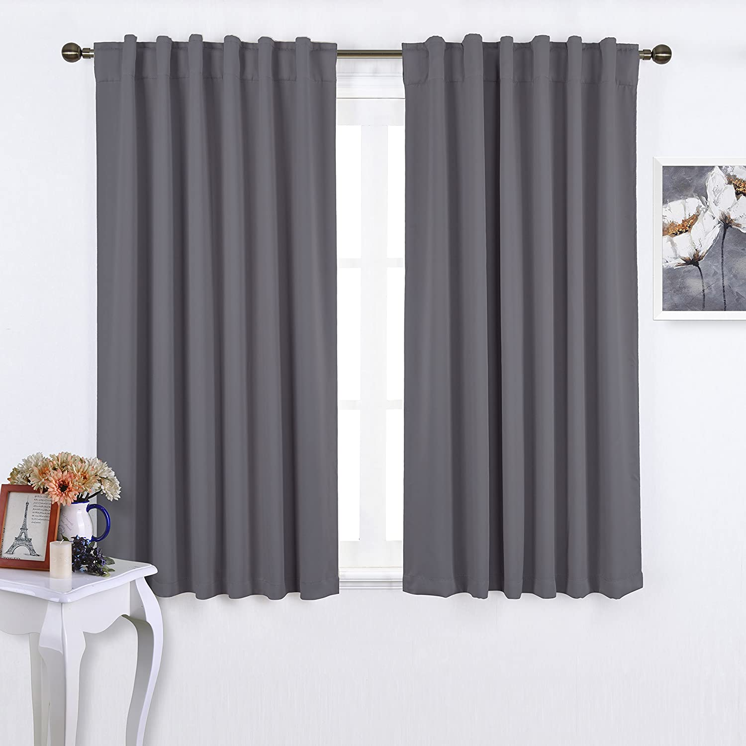 pocket out curtains blue black unique santa floral curtain of bedroom room gray shower panels thermal amazon brilliant com grey and blackout elegant marvelous size darkening solid deconovo rod light really full bemalas for print thick shades nature bluegrey nicetown kitchen white