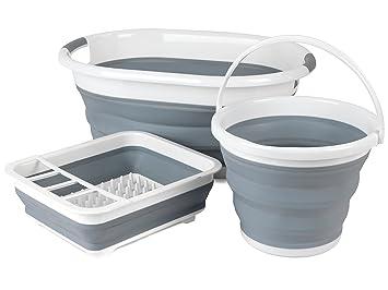 Credenza Con Scolapiatti : Beldray set di pulizia pieghevole con cesta per bucato secchio