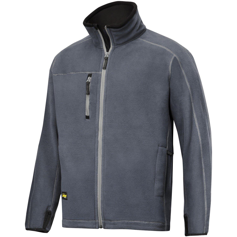 (スニッカーズ) Snickers メンズ AIS ワークウェア フリースジャケット 作業着 B00Y1VPH8O S|スティールグレー スティールグレー S