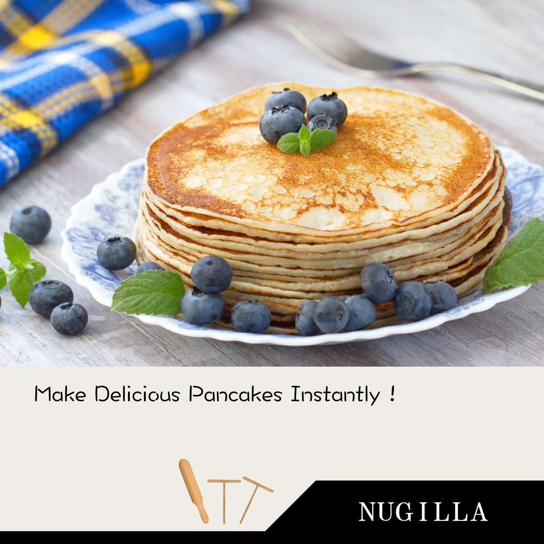 Nugilla Original Crepe Spreader and Spatula Set – 3 Pieces 10-inch Spatula   4.7-inch Spreaders – Premium Beechwood for Crepe Pan Maker/Breakfast Pancakes by Nugilla (Image #5)