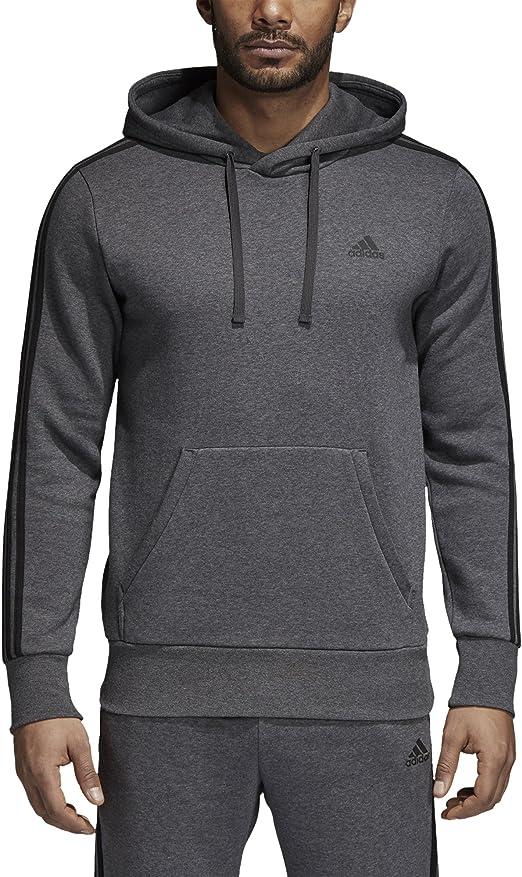 Adidas Pullover Hoodie Mens Size Medium Three Stripe Sleeves