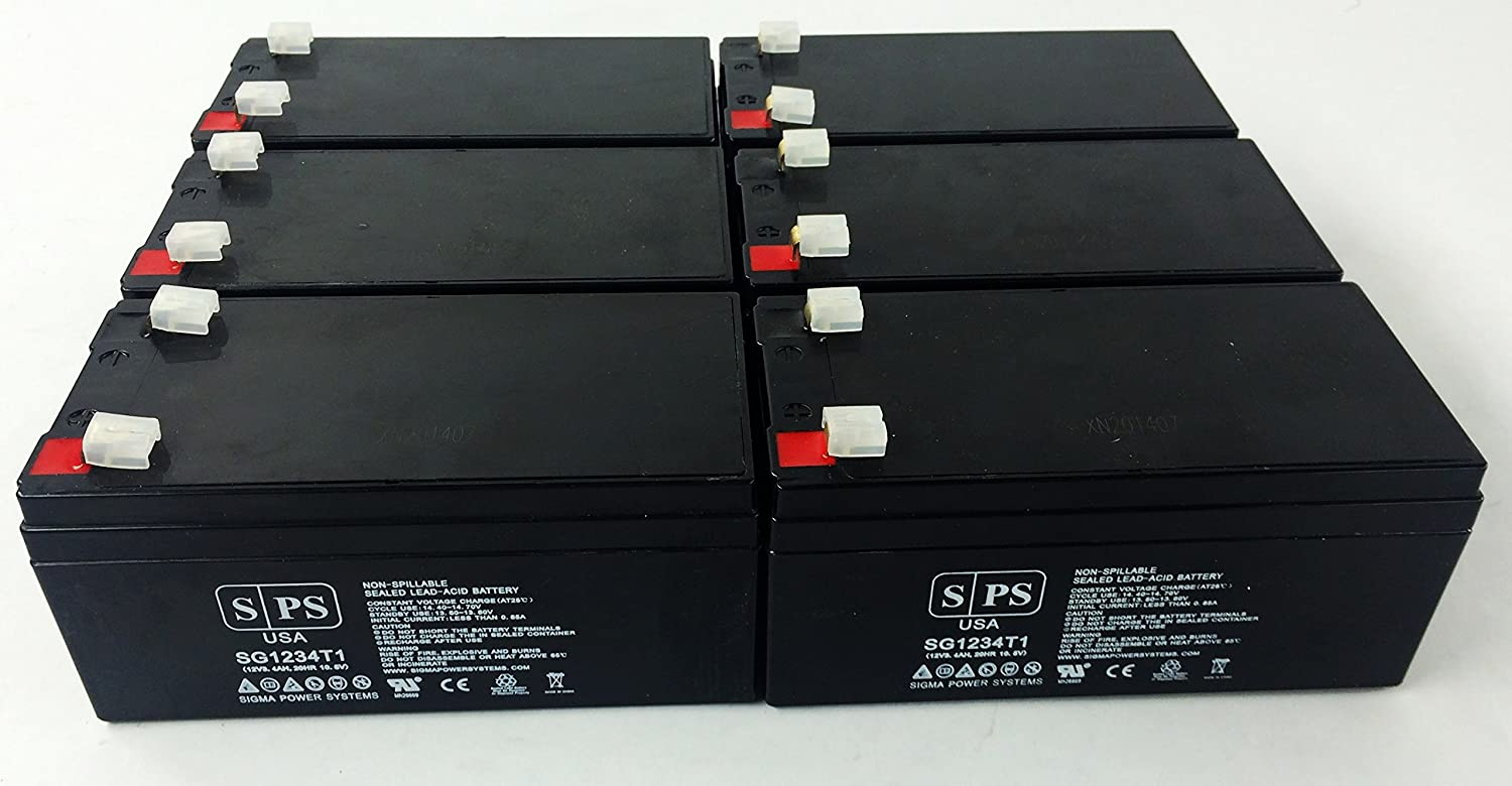 B00NC7NO4M Replacement Battery for Care Monitoring Systems Inc. TELESTAT - SPS Brand (6 Pack) 81v0mGOycYL