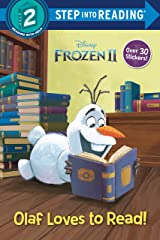 Olaf Loves to Read! (Disney Frozen 2) (Step into Reading) Paperback
