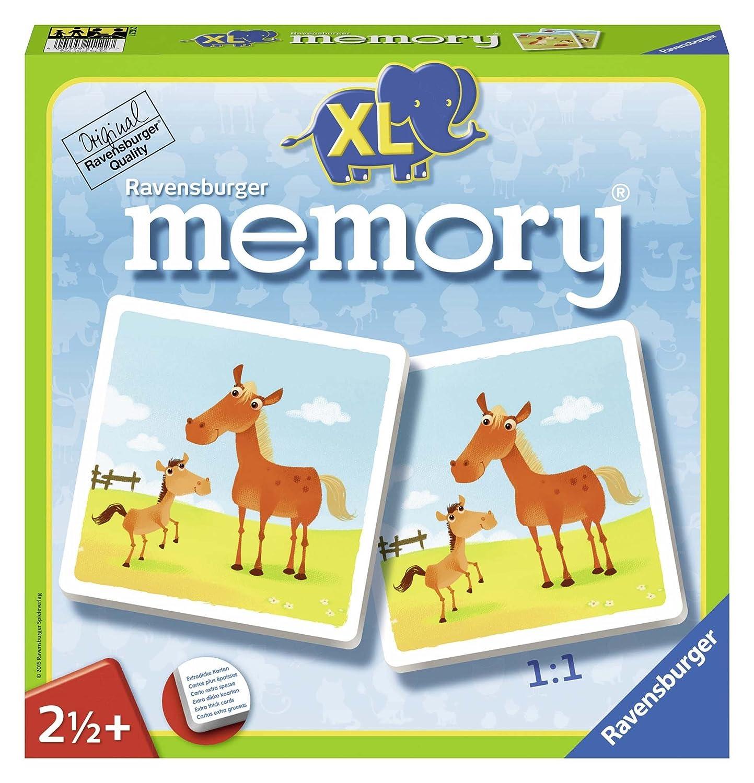 Amazon.com: Ravensburger Mein Erstes XL Memory Tiere Board ...